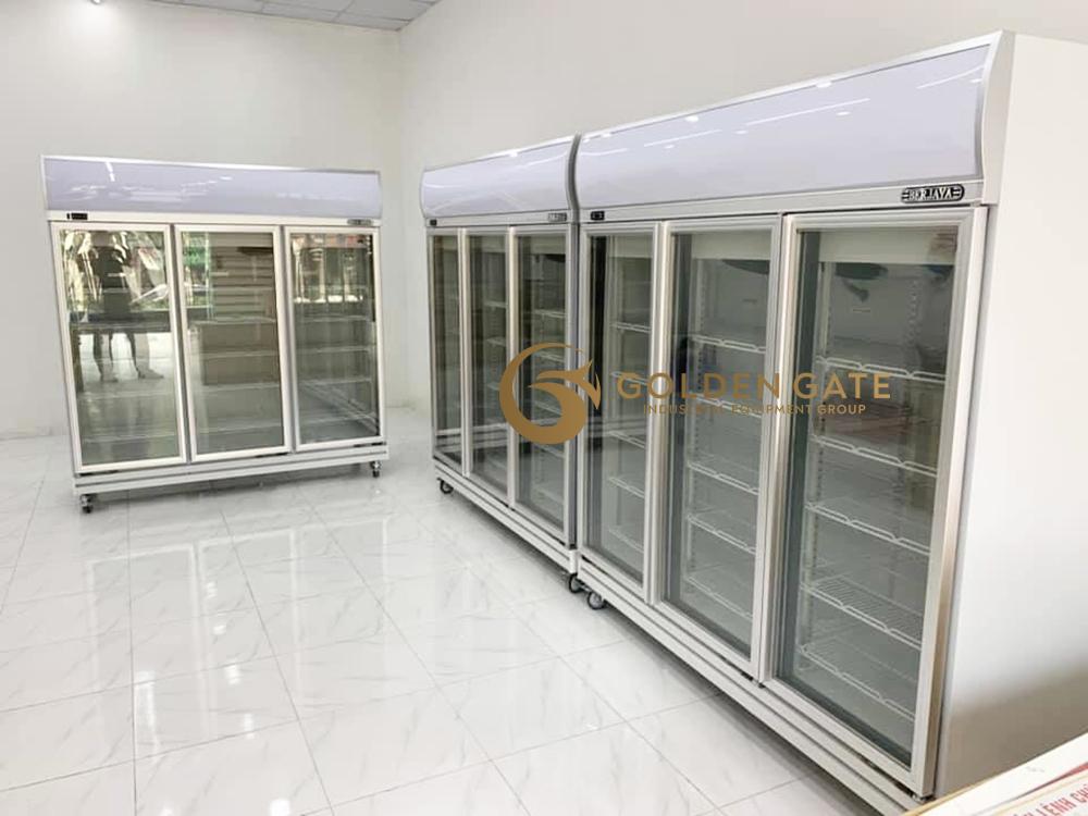 tủ đông siêu thị cánh kính