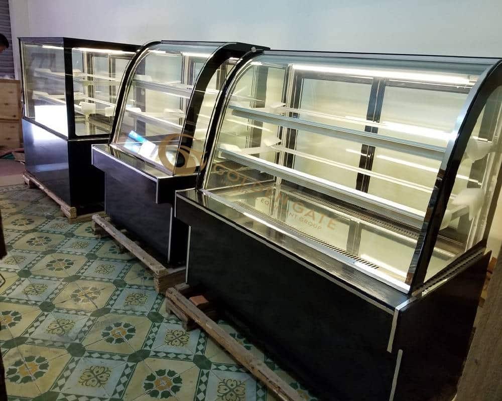 Tủ bánh kem kính cong 1200mm