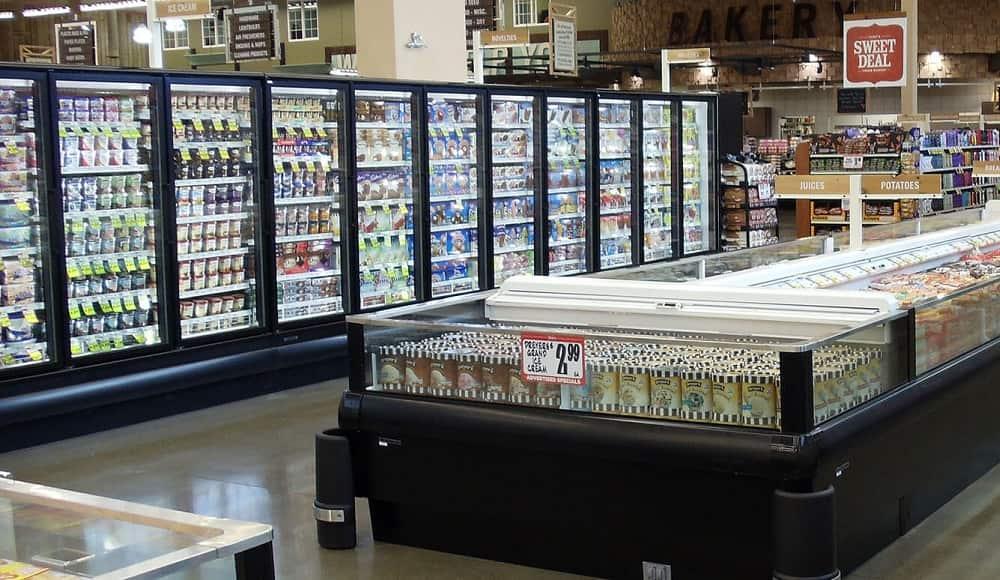 mẹo tủ dụng tủ giữ lạnh siêu thị