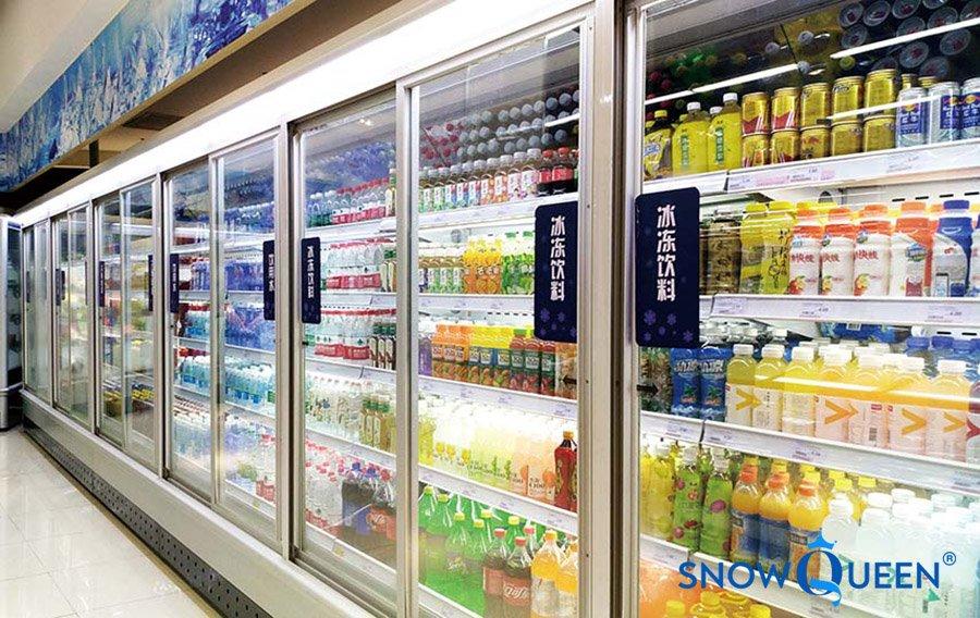 tủ mát siêu thị 4 cánh kính