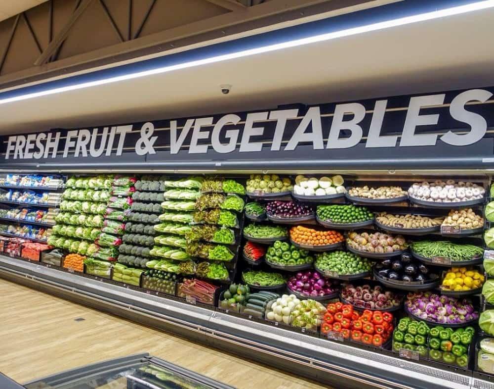 tủ mát trưng bày rau quả