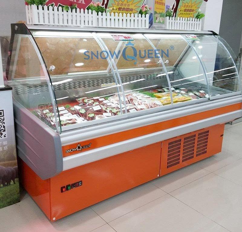 tủ mát trưng bày thịt cá tươi